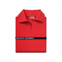 CHEMISE F1 COTON DMB ROUGE SECURITE INCENDIE BRODEE